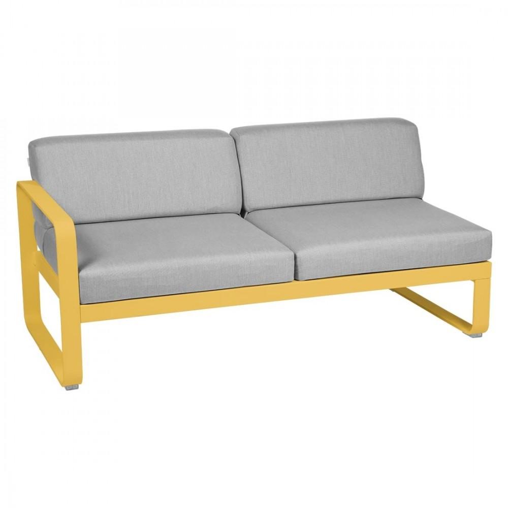 Fermob Sofa-Modul Bellevie, 2-Sitzer, links - Flanellgrau