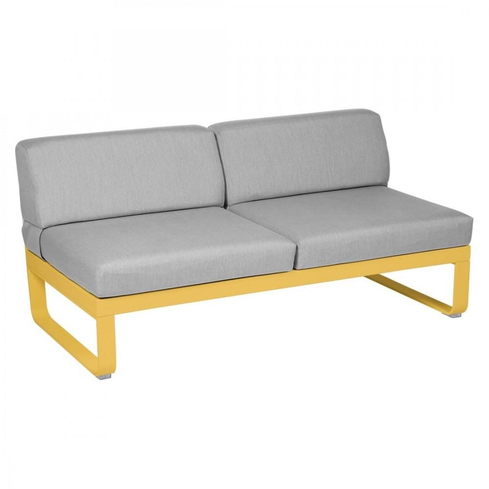 Fermob Sofa-Modul Bellevie, 2-Sitzer, mitte - Flanellgrau