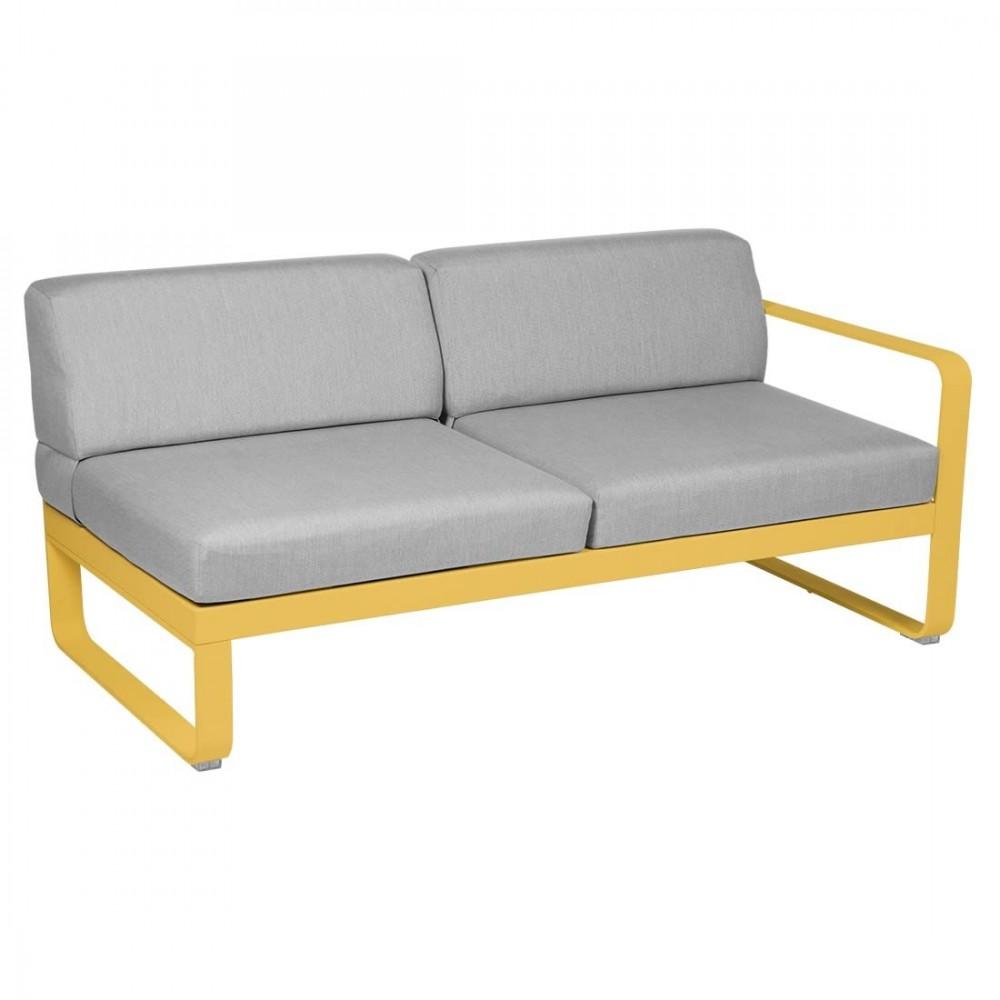 Fermob Sofa-Modul Bellevie, 2-Sitzer, rechts - Flanellgrau