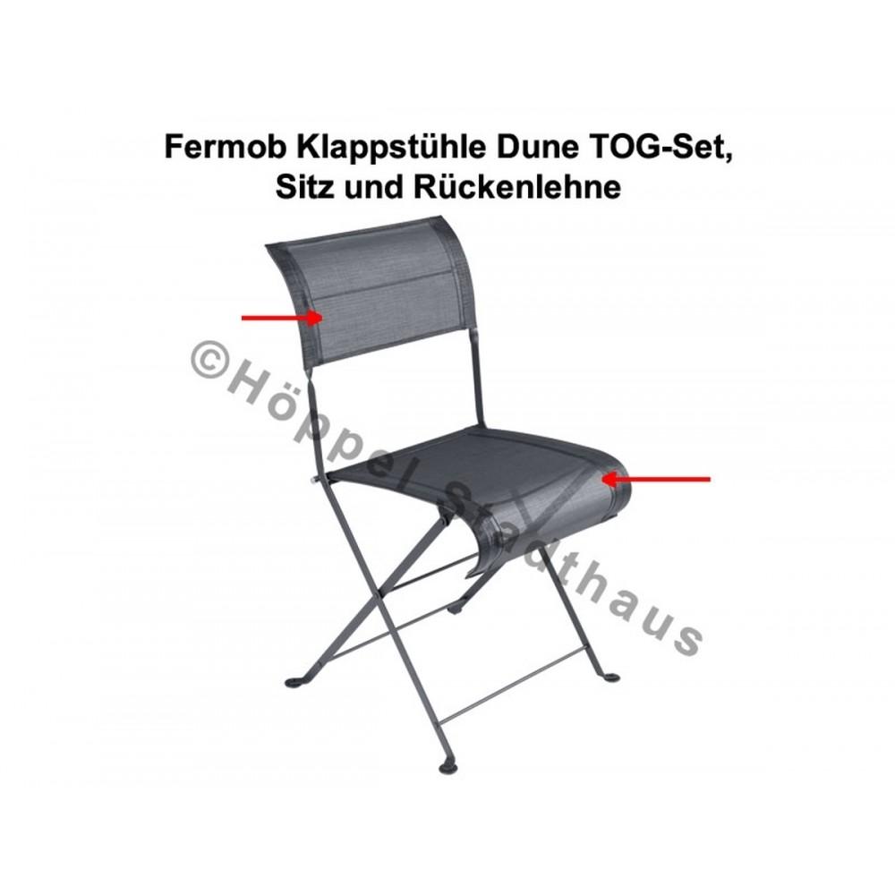 Fermob Klappstühle Dune TOG-Set, Sitz und Rückenlehne