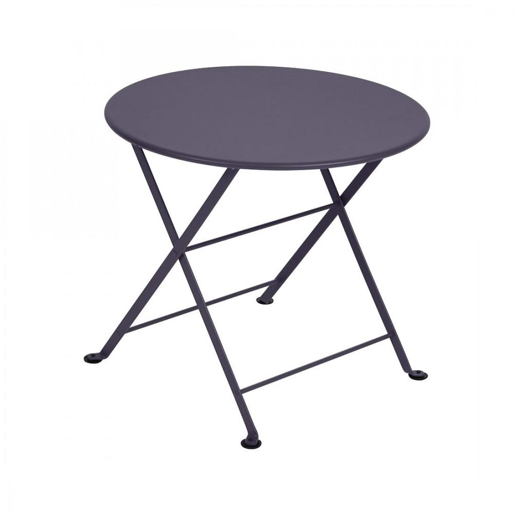 Fermob niedriger Tisch Tom Pouce, Ø 55 cm - Pflaume