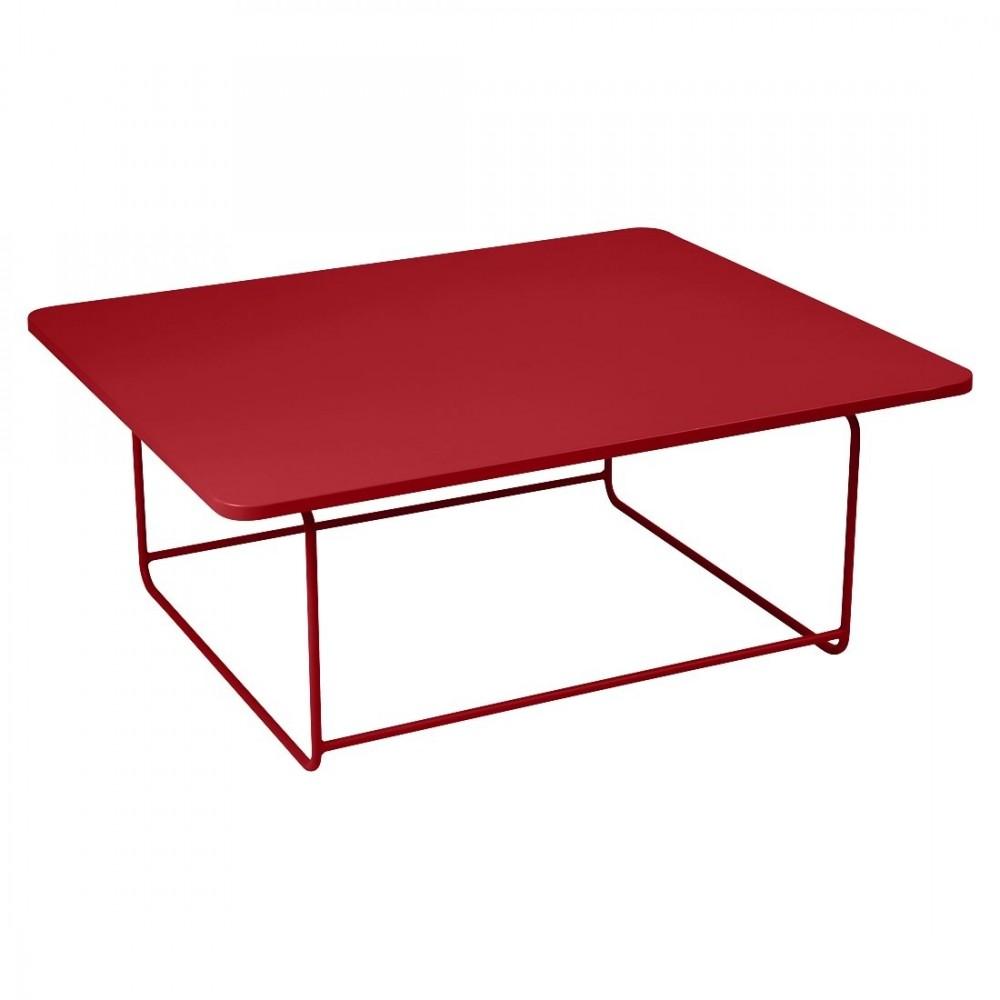Fermob niedriger Tisch Ellipse, 110 x 90 cm - Mohnrot
