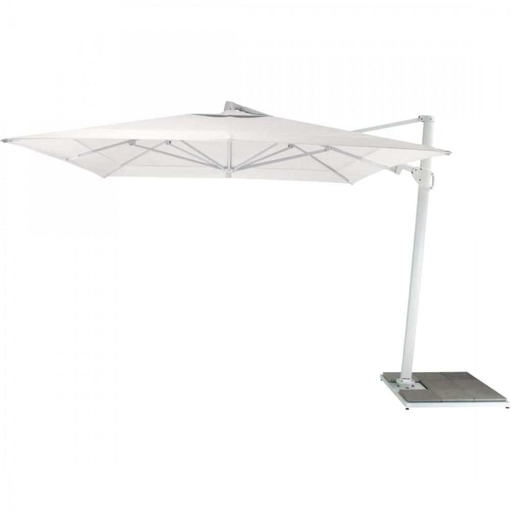 Fermob Sonnenschirm Easy Shadow, 300 x 300 cm, Stange Weiß