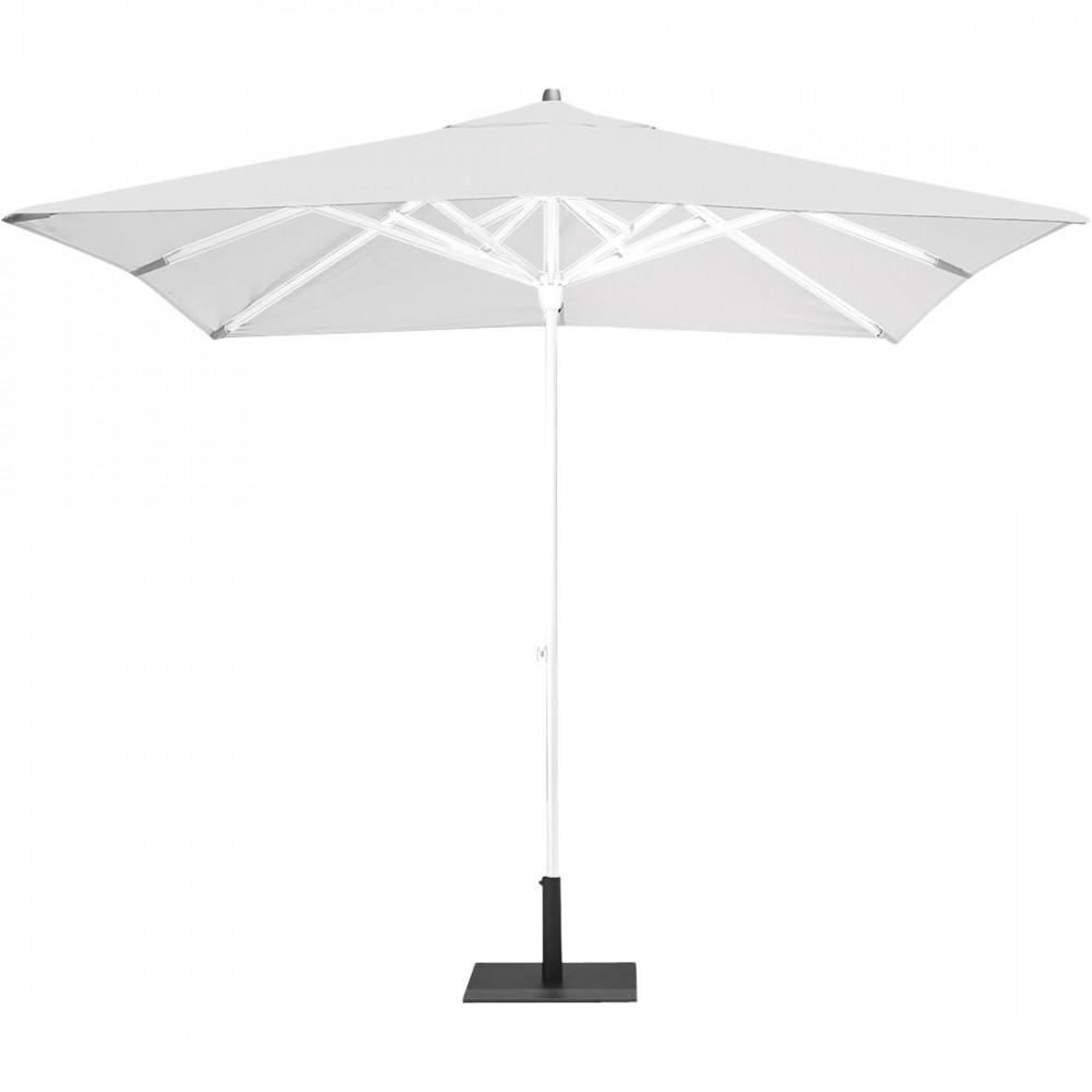 Fermob Sonnenschirm Easy Track, 250 x 250 cm, Stange Weiß