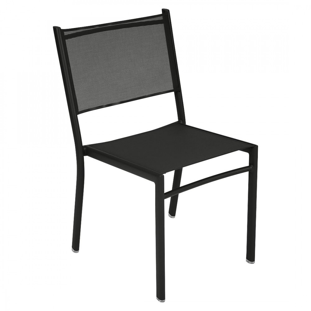 Fermob Stuhl Costa. Ein moderner Stuhl mit Aluminium-Struktur und Bezug in Outdoor-Gewebe, für Ihre Terrasse, Balkon oder Garten.