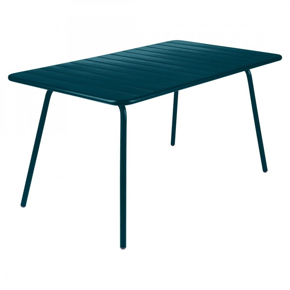 Fermob Tisch Luxembourg, 80 x 143 cm - Acapulcoblau
