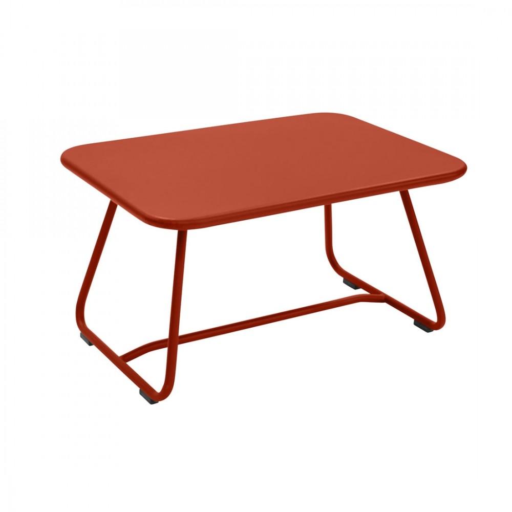 Fermob niedriger Tisch Sixties, 75,5 x 55,5 cm - Paprika