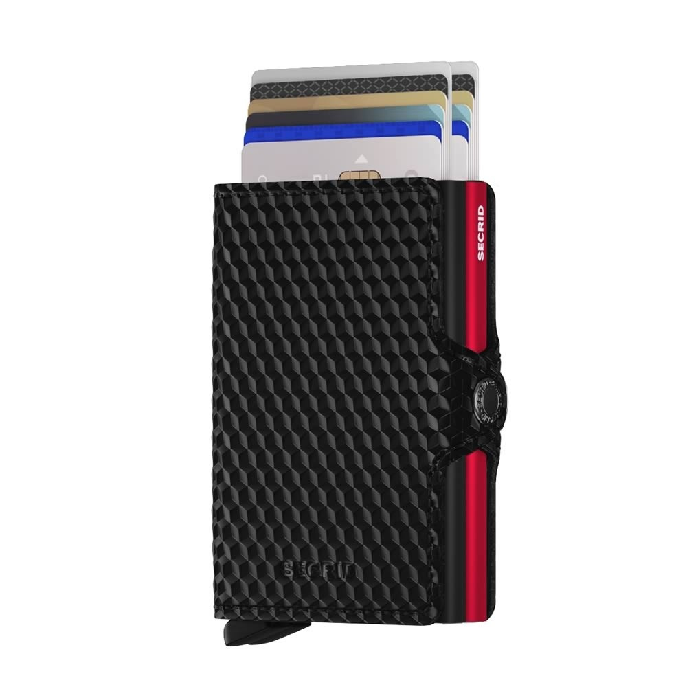 Secrid Twinwallet Cubic - Black-Red