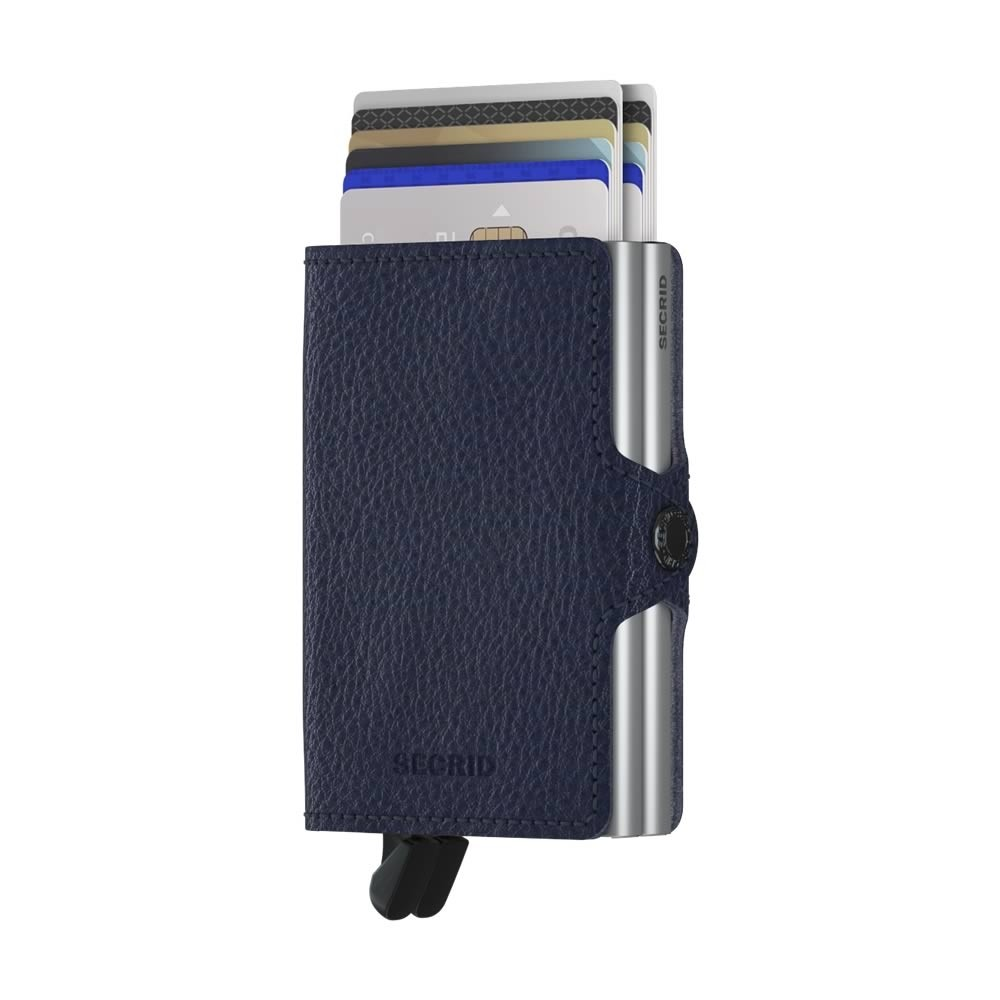 Secrid Twinwallet Vegetable Tanned - Navy-Silver