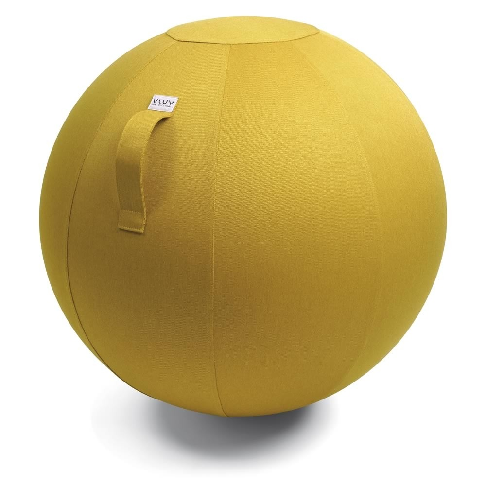 Vluv Leiv Sitzball, Mustard, Ø 50 - 55 cm