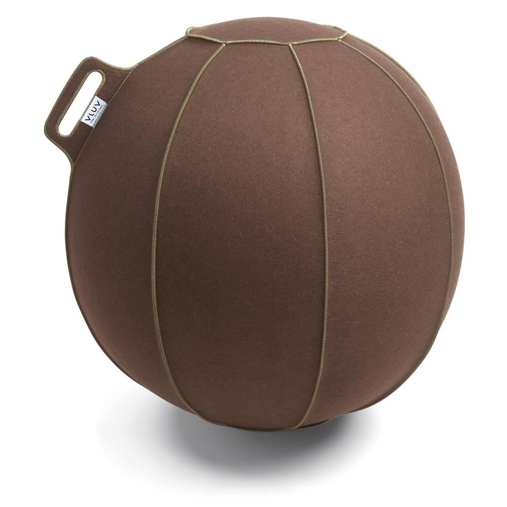 Vluv Velt Sitzball, Braun-Meliert / Grün, 60-65 cm