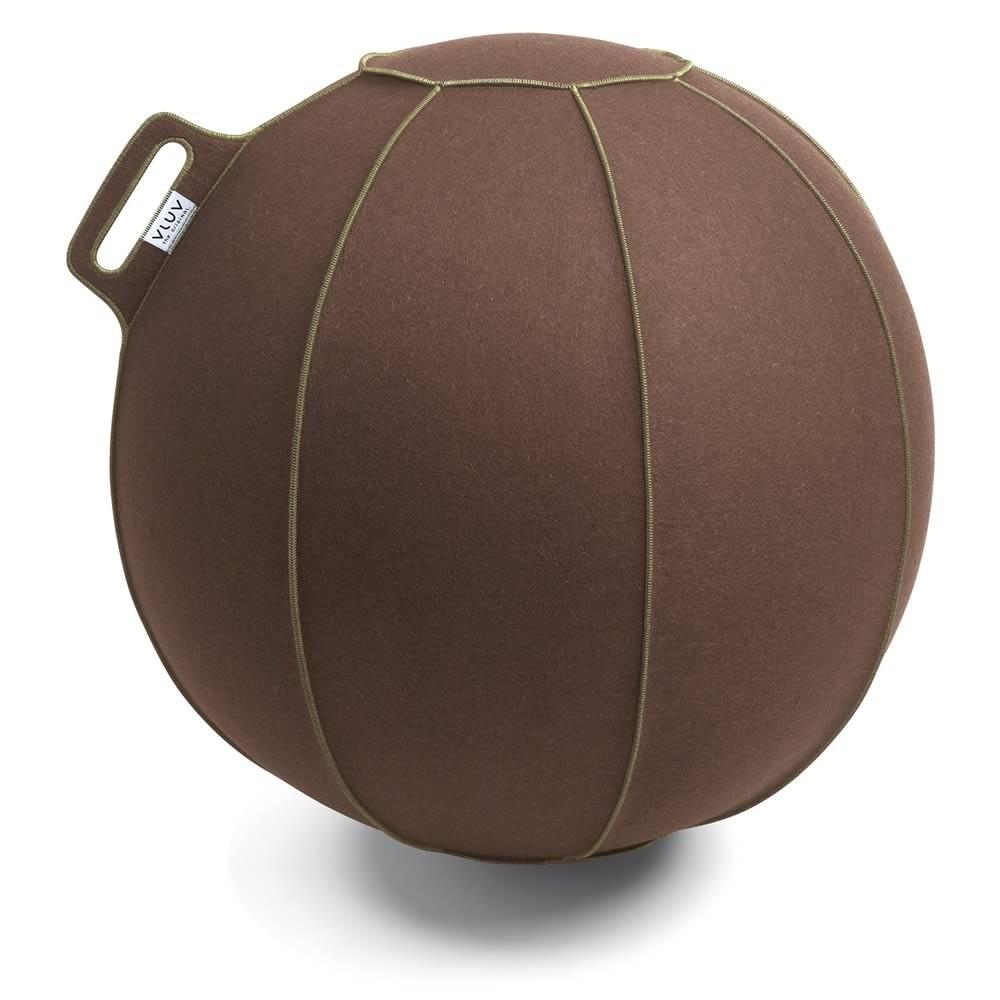 Vluv Velt Sitzball, Braun-Meliert / Grün, 70-75 cm