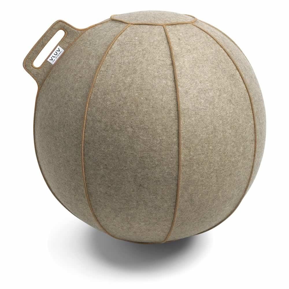 Vluv Velt Sitzball, Greige-Meliert / Braun, 60-65 cm