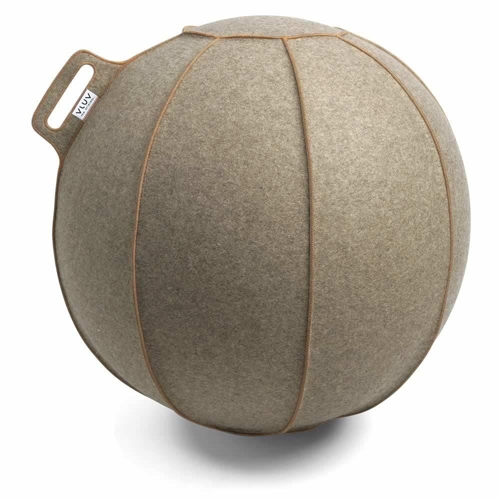 Vluv Velt Sitzball, Greige-Meliert / Braun, 70-75 cm