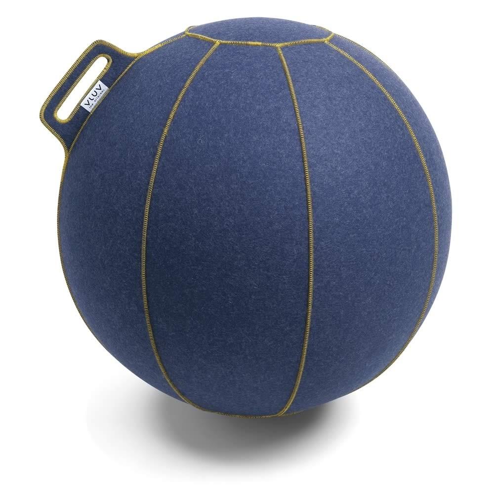Vluv Velt Sitzball, Jeans-Meliert / Gold, 60-65 cm