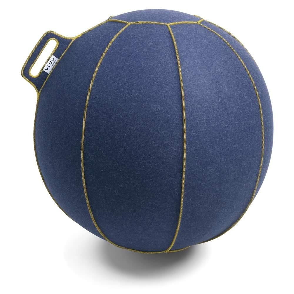Vluv Velt Sitzball, Jeans-Meliert / Gold, 70-75 cm