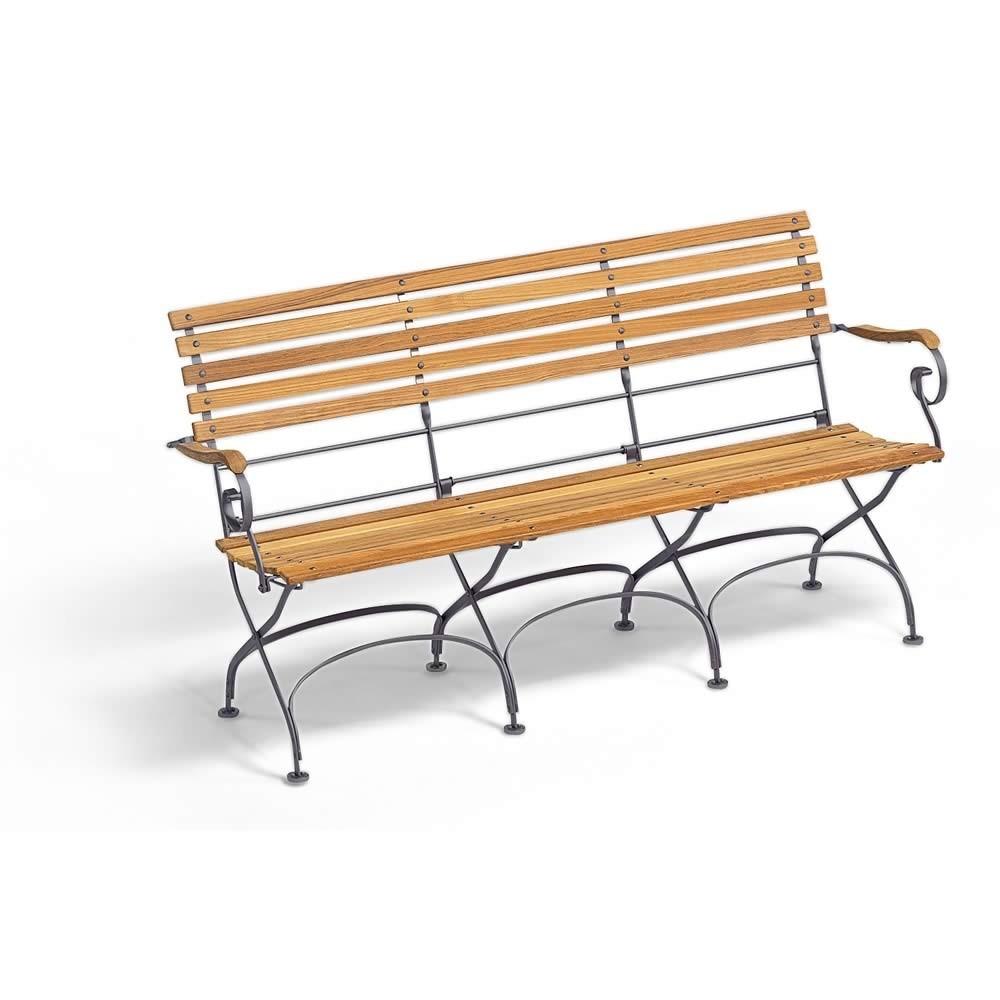 Weishäupl 3-Sitzer Bank Classic mit Armlehnen