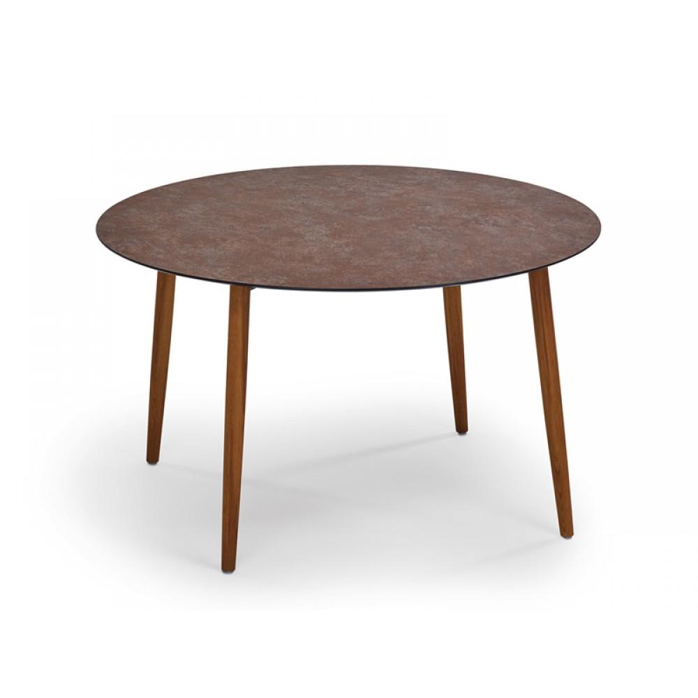 Weishäupl Tisch Slope, Teak, Ø 120 cm