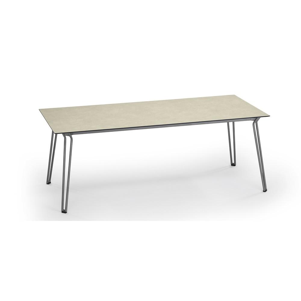 Weishäupl Tsch Slope, 200 x 90 cm, mit HPL-Tischplatte Beige